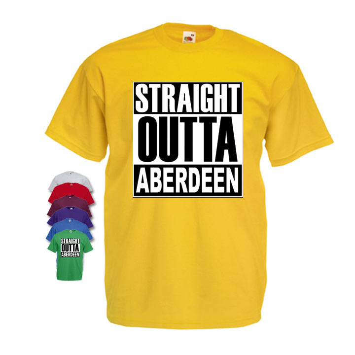 Straight Outta Aberdeen Mens T-shirt