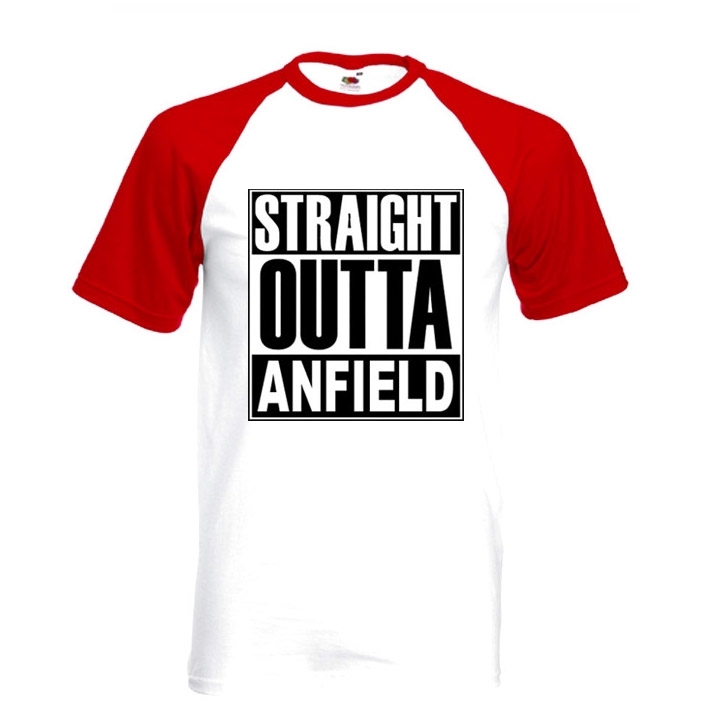 Straight Outta Anfield Mens T-shirt Baseball