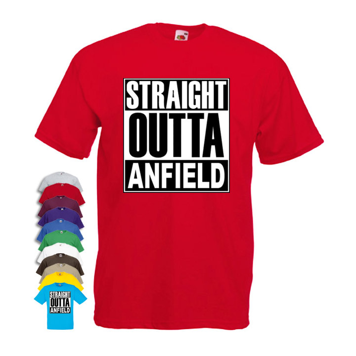 Straight Outta Anfield Mens T-shirt