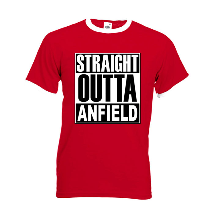 Straight Outta Anfield Mens T-shirt Ringer
