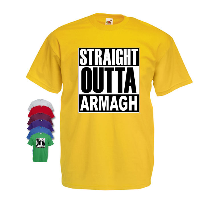 Straight Outta Armagh Mens T-shirt