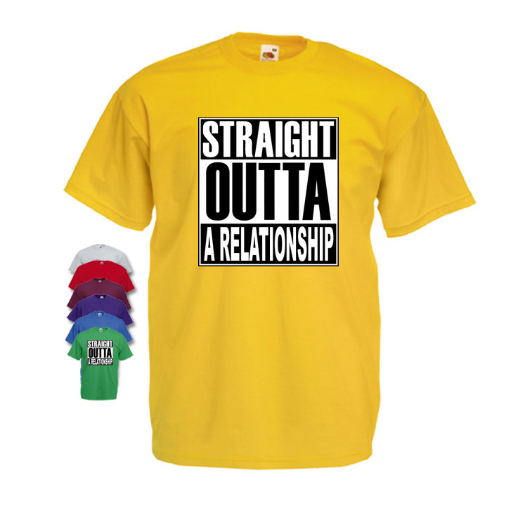 Straight Outta A Relationship Mens T-shirt