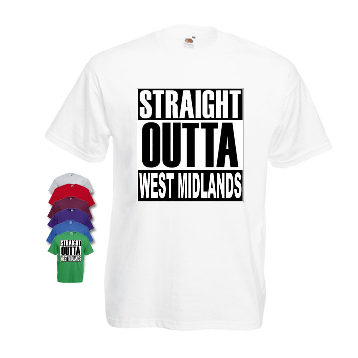 Straight Outta West Midlands Mens T-shirt