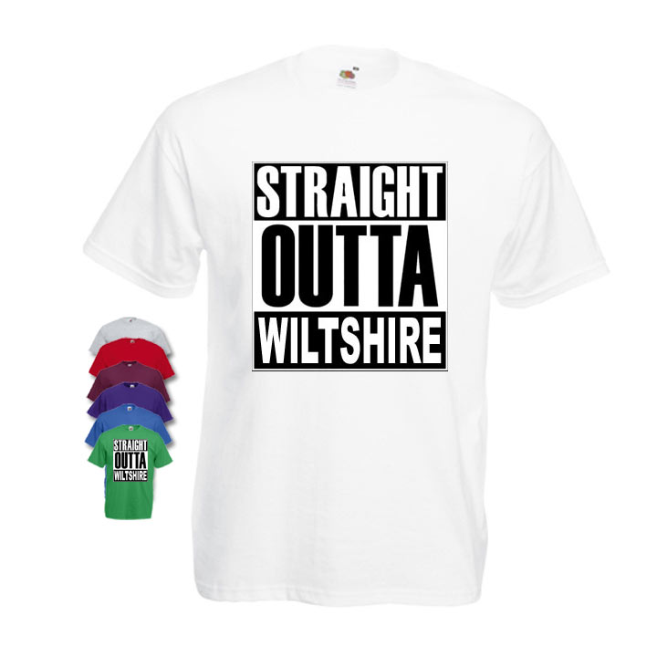 Straight Outta Wiltshire Mens T-shirt