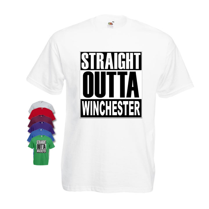 Straight Outta Winchester Mens T-shirt