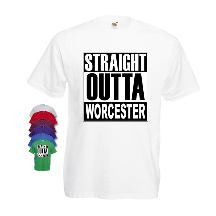 Straight Outta Worcester Mens T-shirt